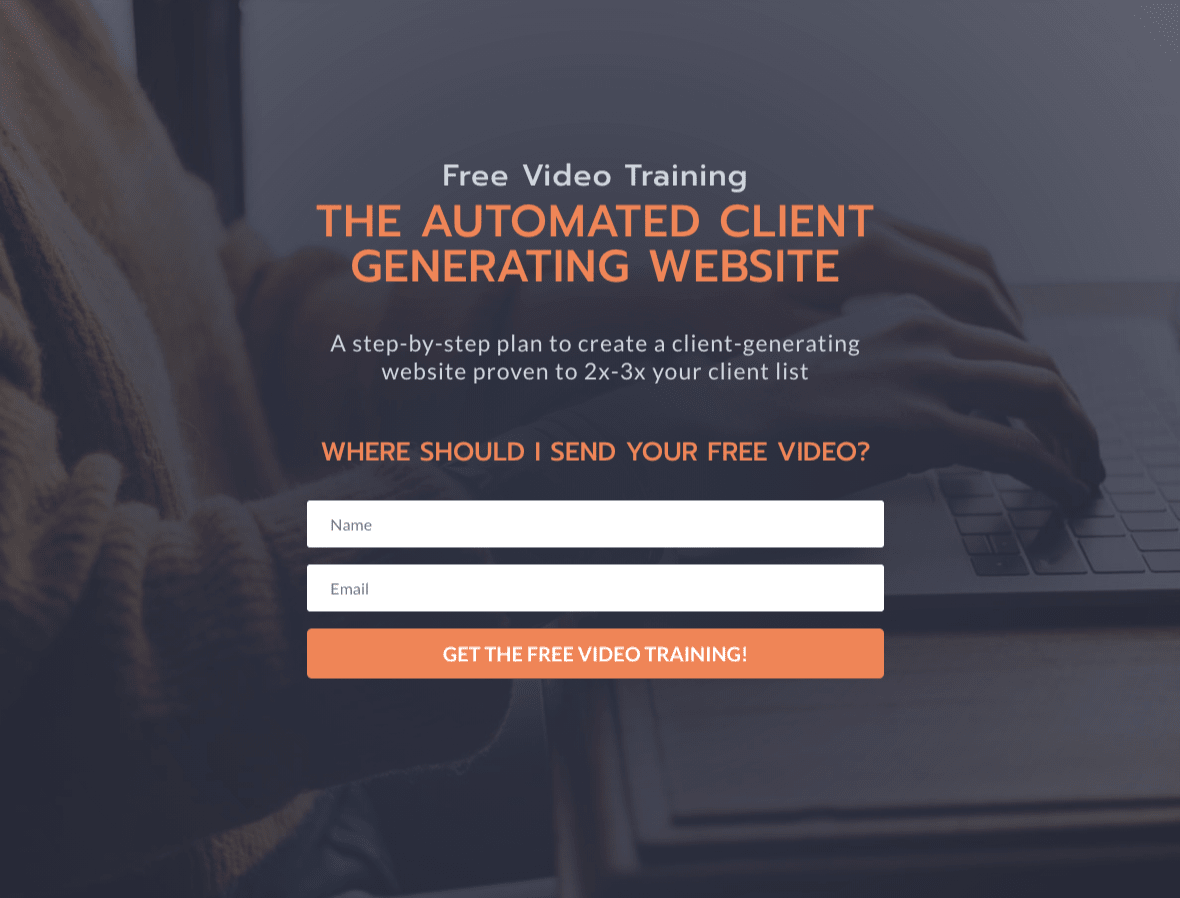 Free Video Training - Build your own client generating website